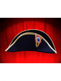 CHAPEAU BICORNE NAPOLEON GALON OR