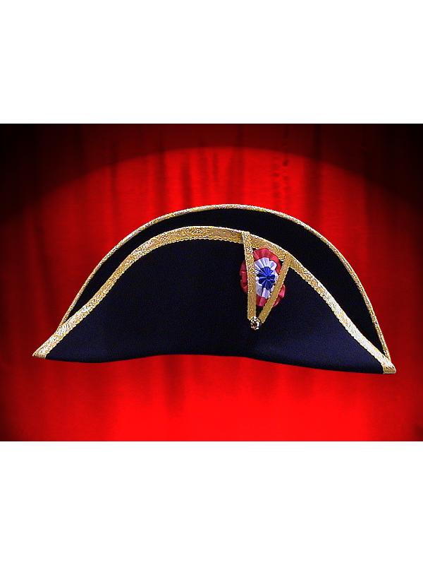 Zweispitz Hut Napoleon Gold