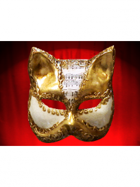 CAT MUSIC GOLD PAPER MACHE