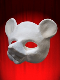 WHITE MASK BASE MOUSE or RAT TO BE PAINTED FOR WEARING