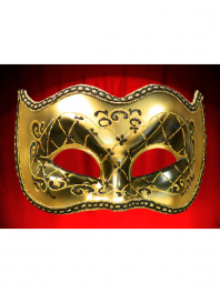 MASQUES VENISE LOUP JOKER SATIN (ou COLOMBINES)