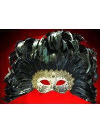 EYES MASKS COLOMBINA WITH FEATHERS and DECORATED