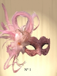 MASKS VENICE COLOMBINA WITH FEATHERS