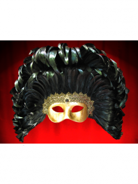 GOLD COLOMBINA WITH FEATHERS LAG
