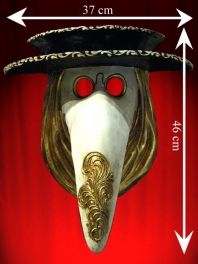 Venetian Mask PLAGUE DOCTOR WITH HIS HAT PAPER MACHE
