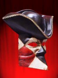 MASKS VENICE CASANOVA RHOMBUSES WITH TRICORN
