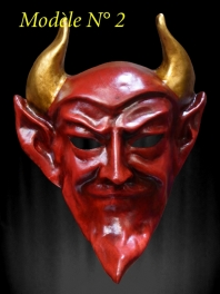 MASQUE DE VENISE DIABLE ROUGE ED PAPIER MACHE