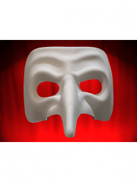 VENICE COMEDIA MASKS LONG WHITE NOSE