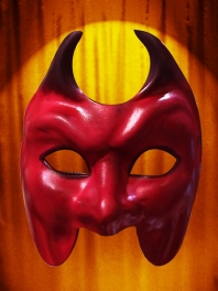 MASK RED DEVIL LEATHER OF VENICE CUEROS