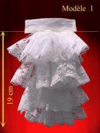 REMOVABLE JABOT with lace