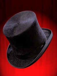 Chapeau HAUT DE FORME GIBUS POILU Noir ou Blanc