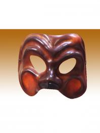 Mascara en couro Comedia del arte ARLEQUIN COURO