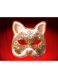 CAT MASK MACRAME AND STRASS