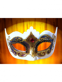 "VENETIAN MASK COLOMBINA ""ARCOBALENO"" WITH POINTS"