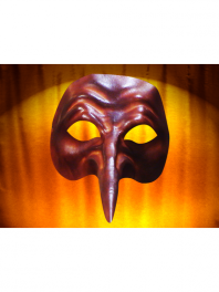 Mascaras em couro Comedia del ARTE ZANNI
