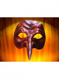 Masques en cuir Comedia del arte ZANNI