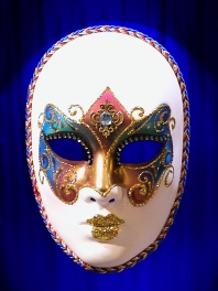 MASK OF VENICE says FACE ARCHOBALENO