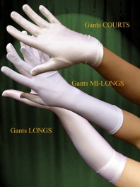 GANTS SATIN ou VELOURS EXTENSIBLES