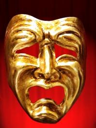 Mascaras ORO de Veneza COMEDIA ou TRAGEDIA