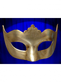 VENETIAN MASK COLOMBINA PLAIN WITH POINTS