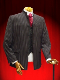 JACKET BLACK GRAND FATHER with STRIPE
