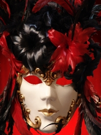 MASK VENICE FACE DECORATED FEATHERS