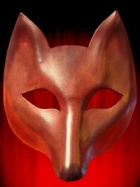 Máscara de couro de raposa