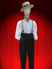 SUSPENDERS GRANDFATHER LEATHER