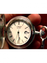POCKET-WATCH QUARTZ SILVER SMALL SIZE