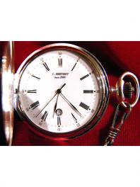 POCKET-WATCHES QUARTZ LARGE MODEL SILVER