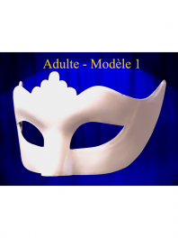 VENETIAN MASK COLOMBINA PUNTA WHITE ADULT OR CHILDREN