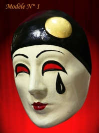 MASK PIERROT ALONE PAPIER MACHE