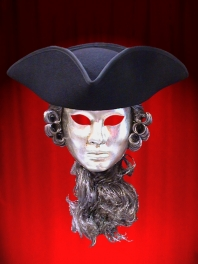 LARGE BLACK HAT THREE-CORNERED-TRICORN
