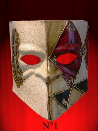 MASK OF PARTY FOR MAN BAUTA MUSIC OR TAROT