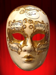 VENETIAN FACE MASK MUSIC