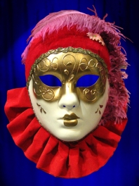 VENETIAN MASK FACE PIERROT COLOR