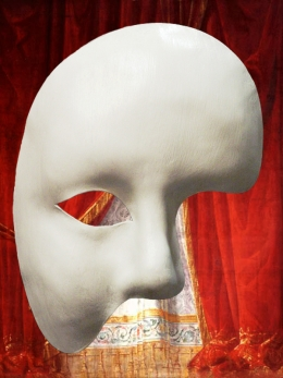 GENUINE LEATHER MASK GHOST OF THE OPERA