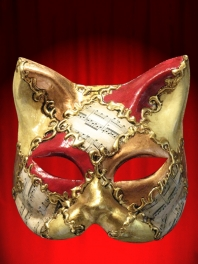 CAT MASK MUSIC RED