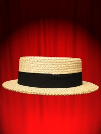 THE TRUE STRAW BOATER HAT
