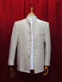 Jacket GRAND FATHER in linen 100 %.