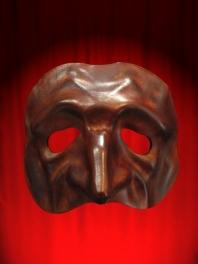 Maschera in Cuoio COMEDIA Tartaglia