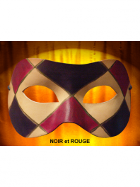MASQUE COLOMBINE CUIR LOSANGES