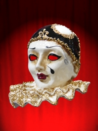 GRAND PIERROT à COLLERETTE PAPIER MACHE