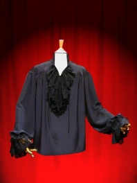 FRILLED MAN SHIRT ALL MADE OF LACE crêpe