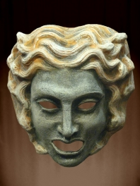 MYTHOLOGICAL MASK OF the GREEK THEATER OF MEDUSA OR GORGON