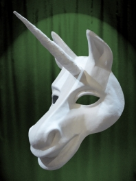 WHITE MASK BASE UNICORN TO BE PAINTED FOR WEARING
