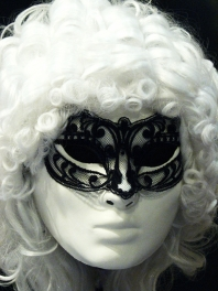 FINE AND SUPPLE LACE COLOMBINA MASK