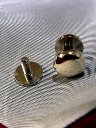 2 STEELS BUTTONS for collar or CUFFS