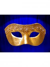 Maske colombina von Venedig mit Strass und MACRAME DRITTA