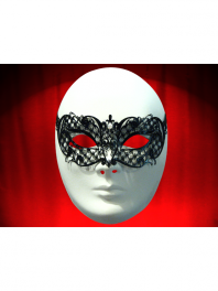 "VENETIAN FILIGREE COLOMBINA MASK IN METAL ""BRILLINA"""